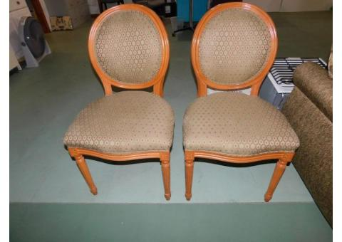 set of two maple queen ann chairs like new