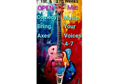 Bring Biz In With Music & Comedy Open Mic Night