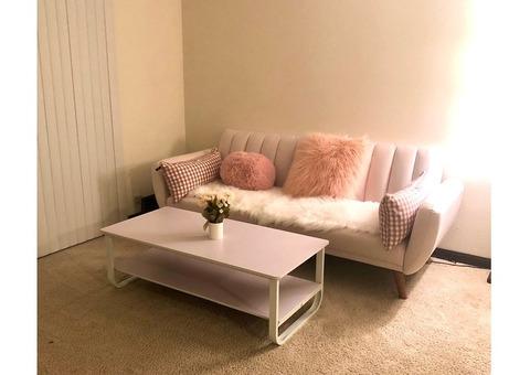 Sofa Futton and sofa table like a new!